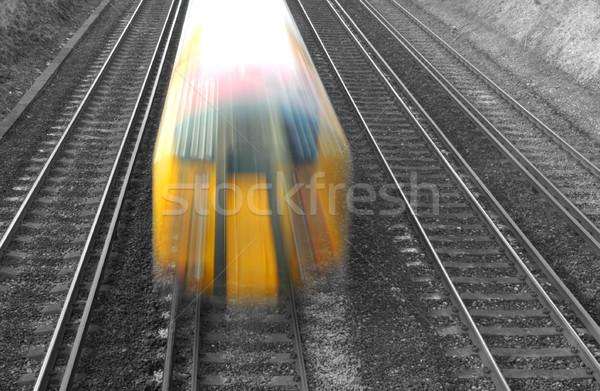 Száguld vonat ingázó üzlet hálózat szállítás Stock fotó © nelsonart