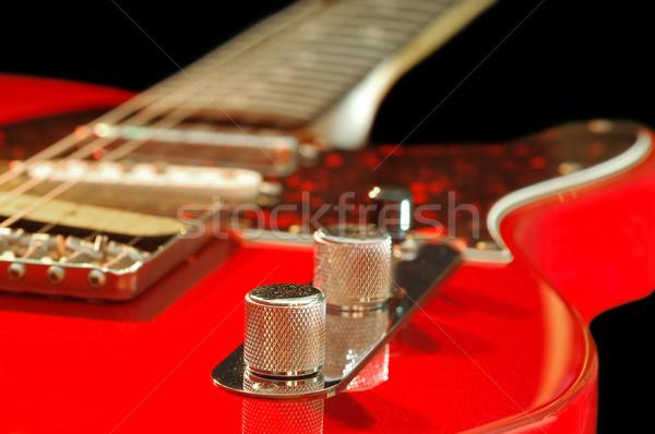 赤 エレキギター クローズアップ ギター 岩 サウンド ストックフォト © nelsonart