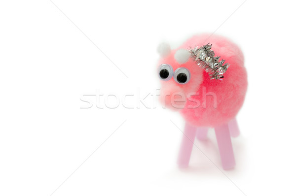 Pelucheux rose porc soft jouet coton Photo stock © nelsonart