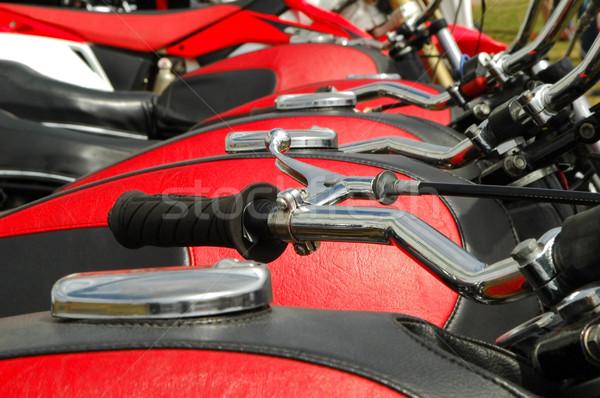 red motorcycles Stock photo © nelsonart