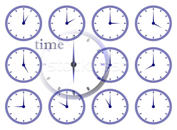 Tiempo múltiple ilustraciones caras gráfico Foto stock © nelsonart