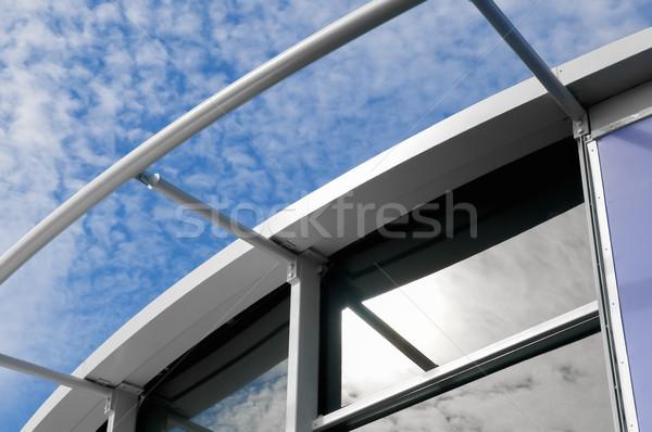 Moderno edificio arquitectura primer plano edificio construcción Foto stock © nelsonart