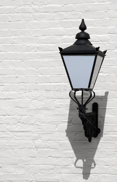 стены фонарь декоративный ретро белый окрашенный Сток-фото © nelsonart