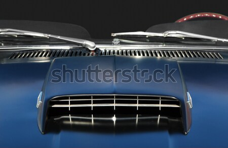 Stock photo: muscle car closeup