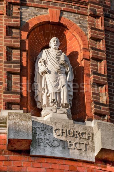 религиозных статуя красный каменные кирпичных Сток-фото © nelsonart