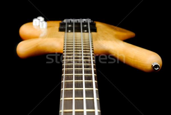 Basszus gitár absztrakt kilátás lefelé nyak Stock fotó © nelsonart