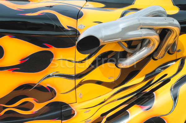 пылающий Auto автомобилей краской автомобилей Сток-фото © nelsonart