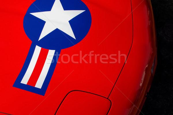 Csillag autó piros sportautó USA jelvény Stock fotó © nelsonart
