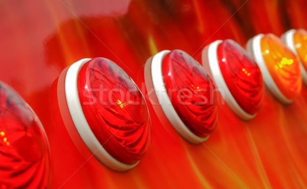 Lumières rouge ambre lumière couleur Photo stock © nelsonart