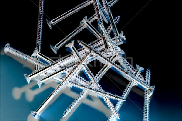 Xray menuiserie résumé effet vis fil Photo stock © nelsonart