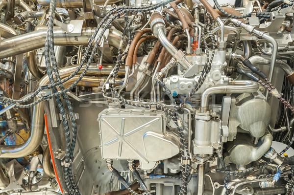 Jato motor pormenor engenharia tecnologia Foto stock © nelsonart