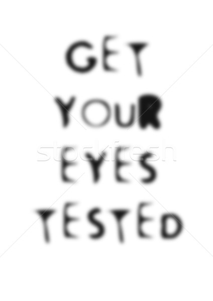 Examen de la vista ilustración vista pruebas ojo Foto stock © nelsonart