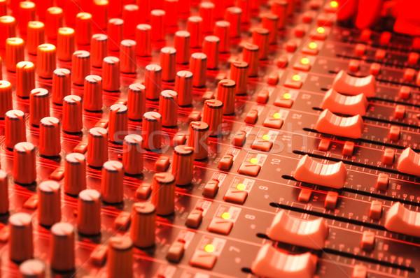 музыку красный этап освещение технологий столе Сток-фото © nelsonart