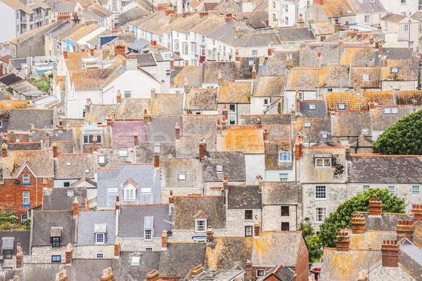 屋根 屋上 表示 古い 英国の ストックフォト © nelsonart