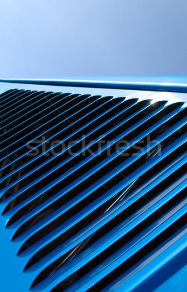 Kék fényes jármű gép szellőzés autó Stock fotó © nelsonart