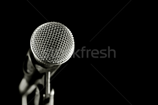vocal microphone Stock photo © nelsonart