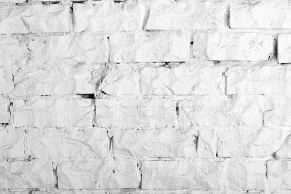 Arka toplama beyaz tuğla duvar boyalı Stok fotoğraf © nemalo