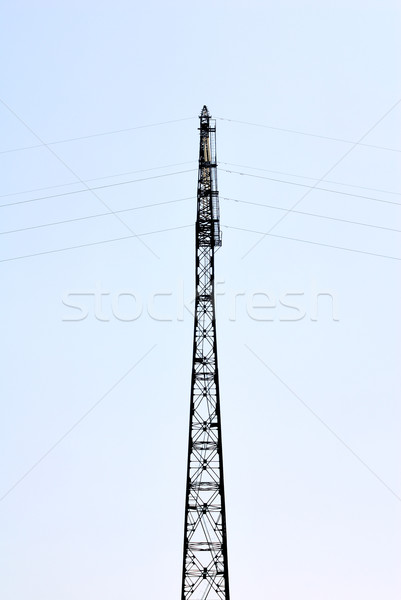 Electricity Pylon in the blue sky Stock photo © nemalo