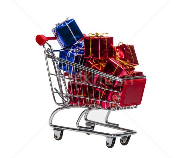 Shopping Cart with gift boxes Stock photo © nemalo