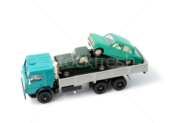 Transportation of toy cars for disposal Stock photo © nemalo