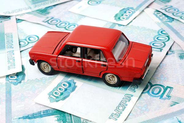Araba para oyuncak soyut imzalamak Stok fotoğraf © nemalo