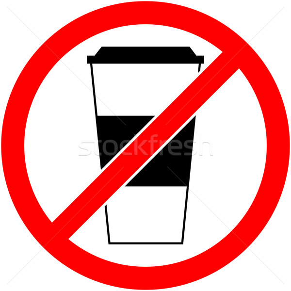 No drink sign. Vector illustration. Flat design. Stock photo © nemalo