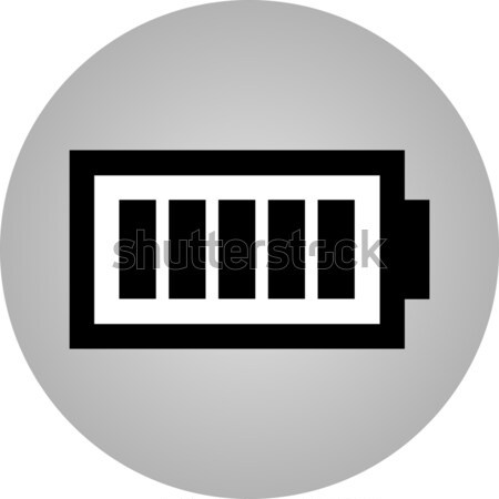 Battery icon - vector, flat design. Eps 10 Stock photo © nemalo