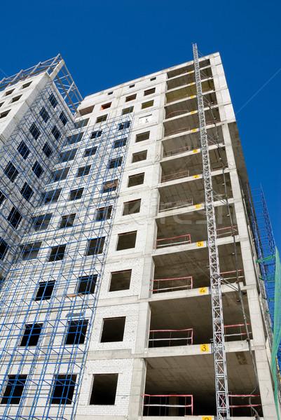 Construction immeuble de bureaux verre concrètes ciel bureau Photo stock © nemalo