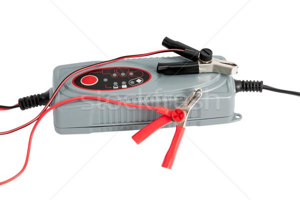 Moderno elettronica auto batteria cavi isolato Foto d'archivio © nemalo