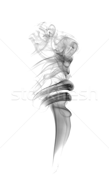 Streszczenie ciemne dymu świetle ognia sztuki Zdjęcia stock © nemalo