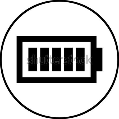 Battery level symbol - Vector icon isolated Stock photo © nemalo