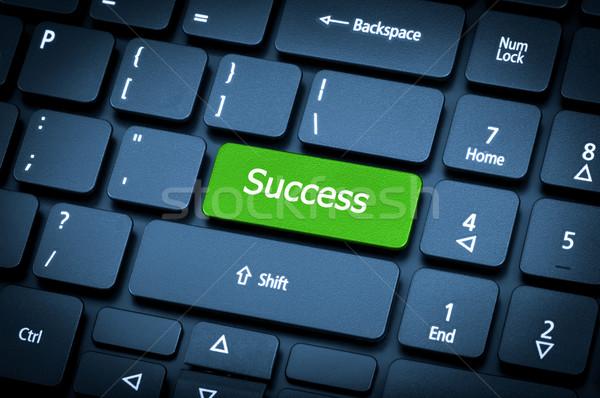 Laptop keyboard. The focus on the Success key. Stock photo © nemalo