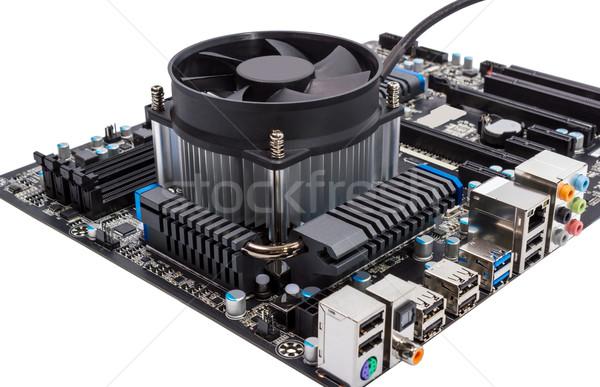 Stockfoto: Elektronische · collectie · computer · moederbord · cpu · geïsoleerd