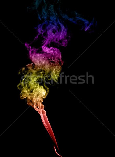 Résumé fumée sombre art noir Photo stock © nemalo