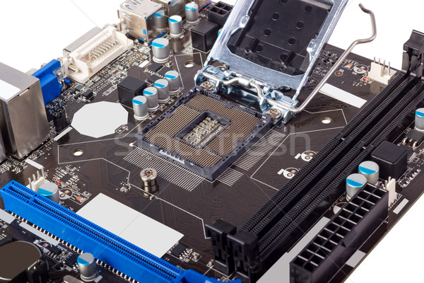 Electronic collection - Empty CPU socket Stock photo © nemalo