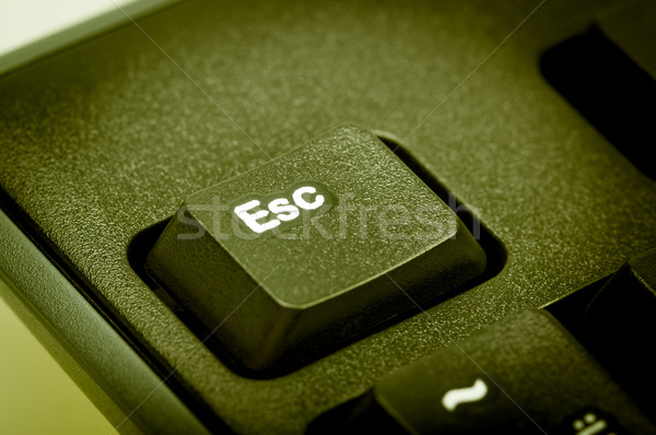 Electronic collection - detail black computer keyboard. The focu Stock photo © nemalo