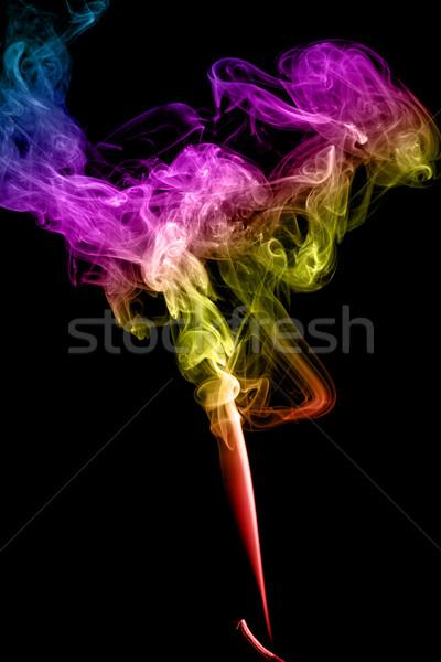 аннотация дым темно искусства черный Сток-фото © nemalo