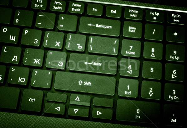 Electronic collection - laptop keyboard. The focus on the Enter  Stock photo © nemalo