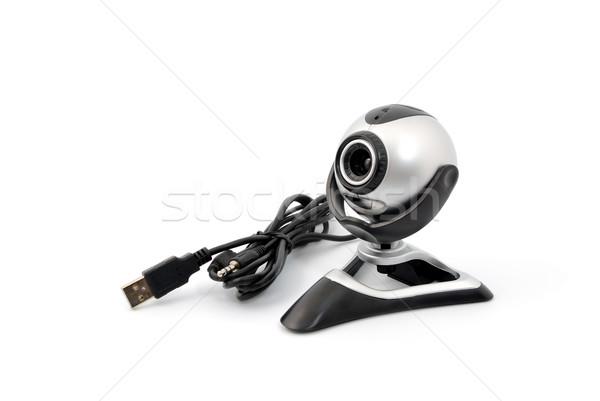 Webcam modernes isolé blanche sécurité web Photo stock © nemalo