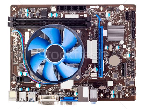 Elektronikus gyűjtemény számítógép alaplap processzor izolált Stock fotó © nemalo