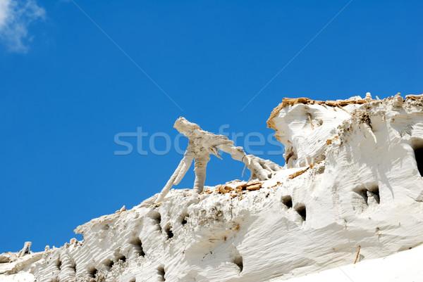 Zand helling zanderig berg natuur landschap Stockfoto © nemalo