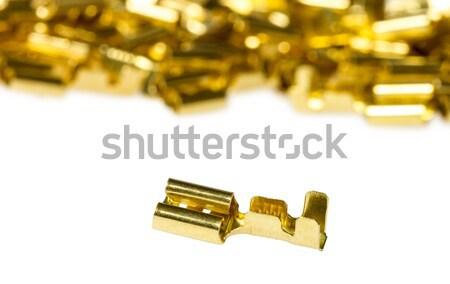 Elektomos alkotóelem bronz kábel izolált fehér Stock fotó © nemalo