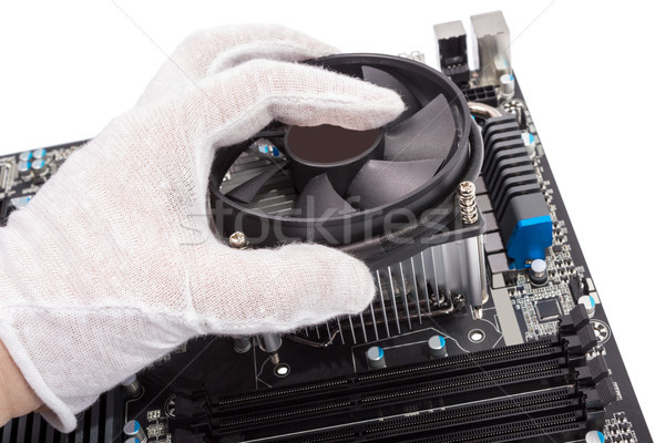 Electronic collection - Installing CPU cooler Stock photo © nemalo