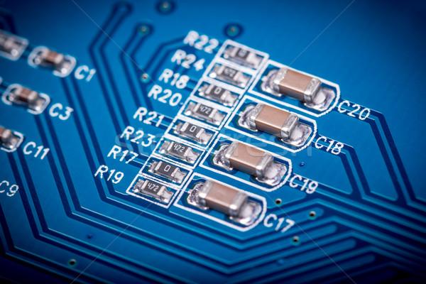 Elektronische collectie computer circuit board radio onderdelen Stockfoto © nemalo