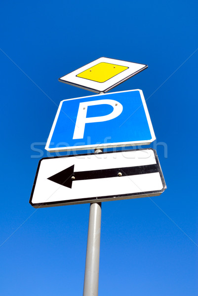 Guide sign column. Stock photo © nemalo