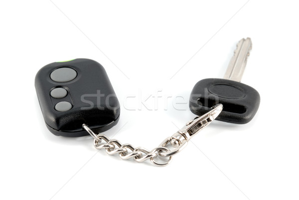Automobile keys and charm from the autosignal system Stock photo © nemalo