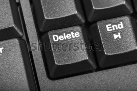 Elektronische collectie detail zwarte sleutel Stockfoto © nemalo