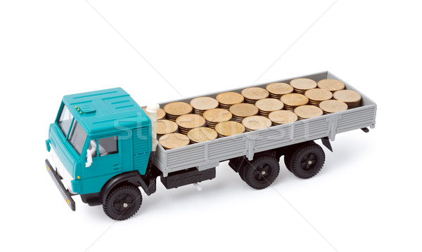 Közlekedés pénz izolált fehér absztrakt felirat Stock fotó © nemalo