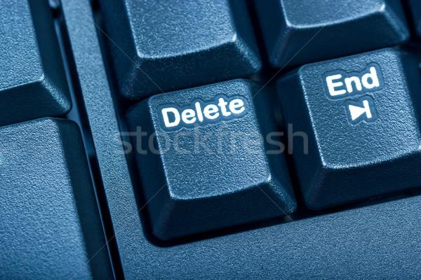 Elektronikus gyűjtemény részlet fekete számítógép billentyűzet fókusz Stock fotó © nemalo