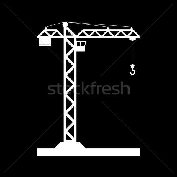 Building Tower crane icon - vector. Stock photo © nemalo
